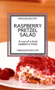 raspberry,cool whip.dessert,pretzel, salad