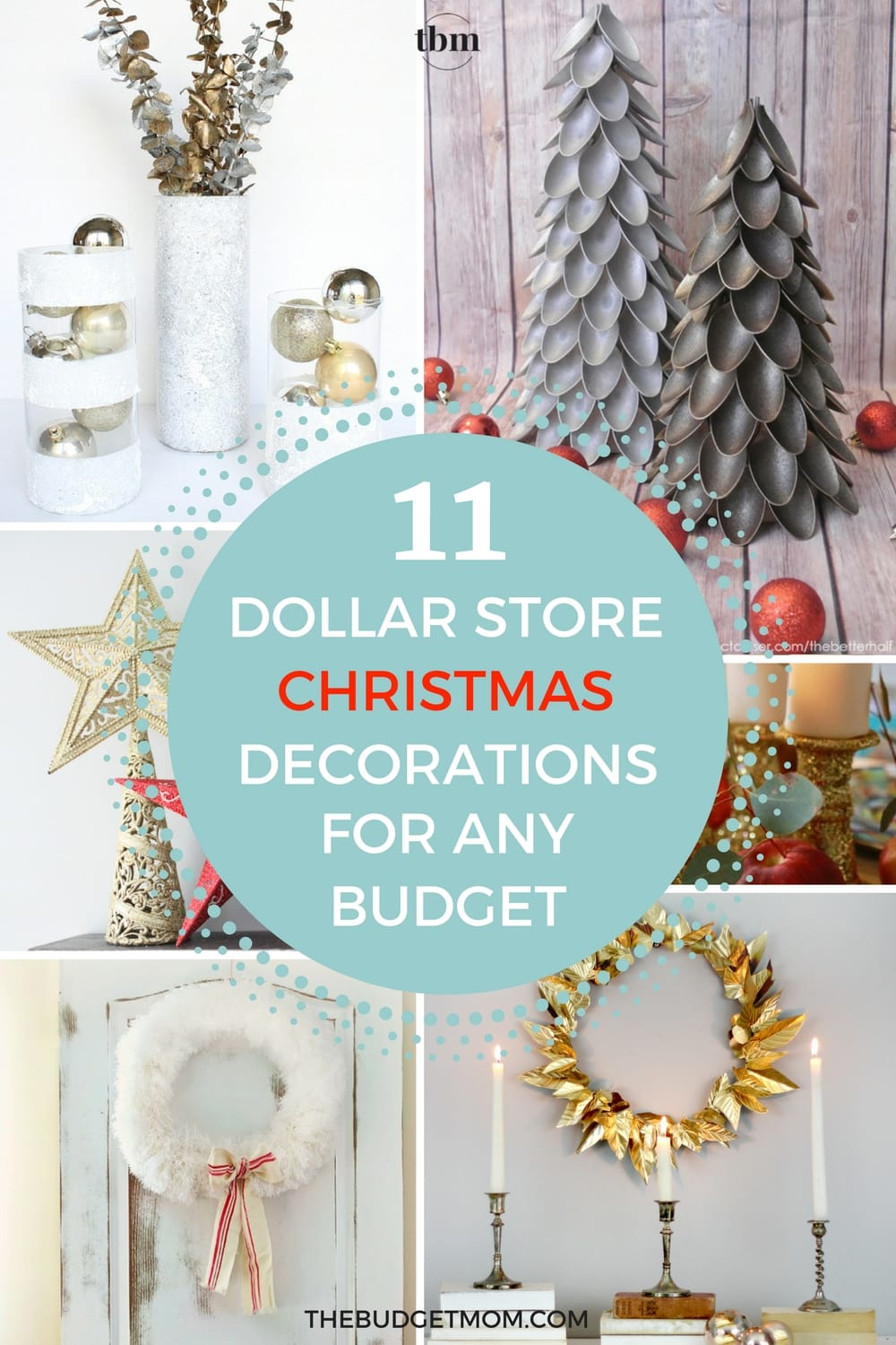 if you are looking to decorate for christmas on a small budget then you have - Teal And Gold Christmas Decorations