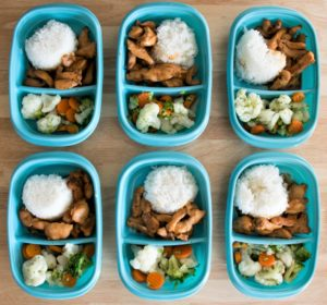 Teriyaki chicken, white rice, and vegetables make great lunches you can meal prep every week. 5 ingredients, 30 minutes, and less than $20 is all you need! Easy, affordable, and delicious!