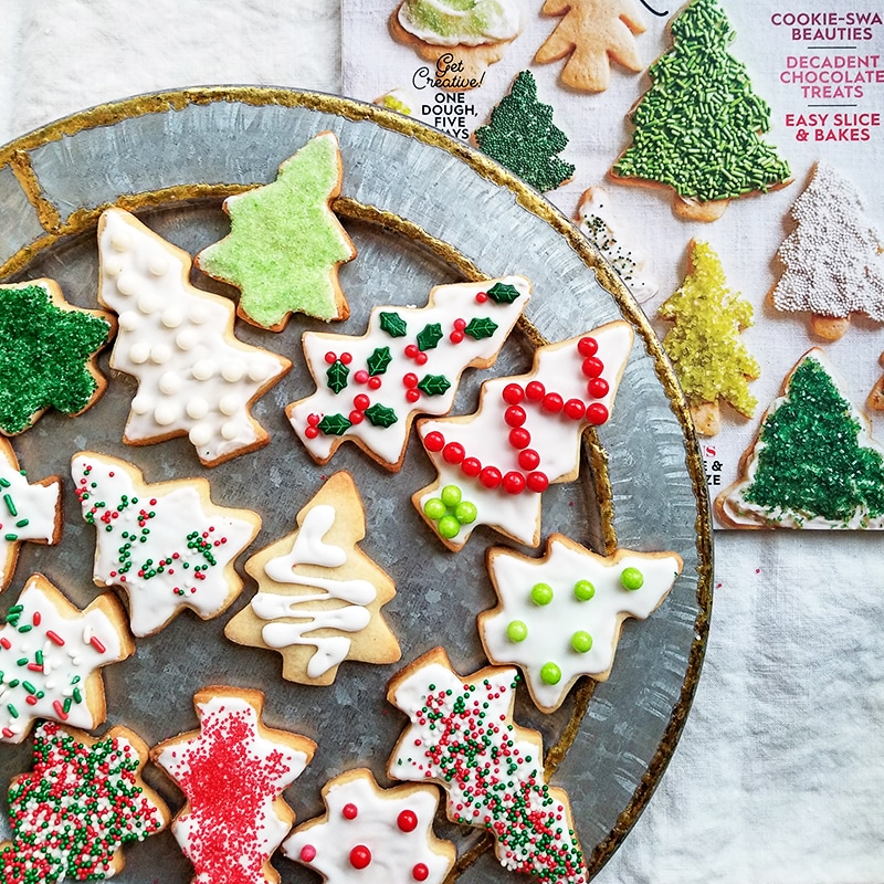 Christmas Cutout Cookies.The Best Cut Out Vanilla Sugar Cookies